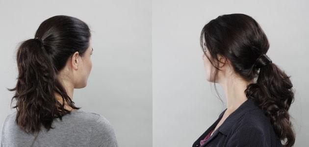 קוקו אסוף ב'גומיית' שיער טבעי